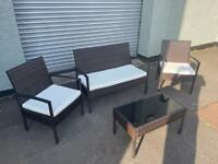 Brand new rattan furniture set 2/1/1 & table delivery available