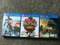 3 PS4 games in excellent condition
