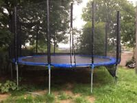 16ft trampoline 2 months old. Comes with ladder and cover .