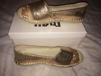 Rose gold shoes Size 5 New