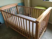 Mamas & papas Cot Bed & Matress