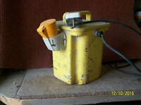 110 volt tranformer with drill and grinder