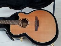 Takamine 12 string electroacoustic ETN40C12, made in Japan, with hard case.