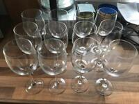 Twelve Wine Glasses