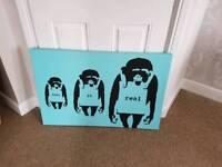 Blue Monkey canvas