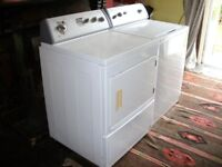 Whirlpool American Top Loading Washing Machine and Dryer. Commercial type matching washer and dryer