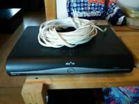 Sky Plus HD box with an ac wire and plenty cable. No remote