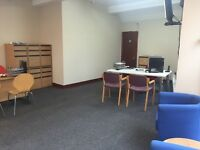 Shared Office Space with desk and waiting area for let