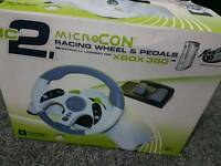 Madcatz microcon xbox 360 racing steering wheel