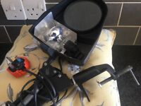 Bench magnifier with inspection light