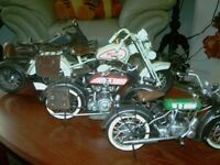 DETAILED TIN PLATE MOTORCYCLES X4