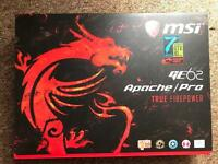 MSI GE62 7RE Apache pro brand new gaming laptop with original receipt and 2 year warranty