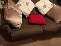 brown cotton sofa bed