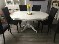 White Shabby Chic Vintage Dining Table