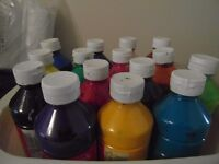 Read Mix Paint REEVES - 15 bottles (USED but mostly near full bottles)