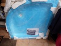 New Quadrant Ceramic Shower Tray