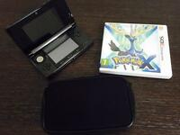 Nintendo 3DS with charger and 4 games
