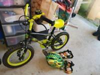 Boys bike, 12inch frame, 14inch wheels