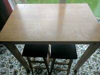 Table and 4 stools for sale