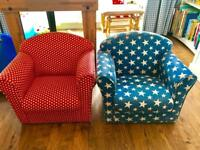 Two toddler kids armchairs