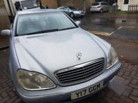 Excellent runner Mercedes S class, only ONE OWNER from new, priced to sell quickly.