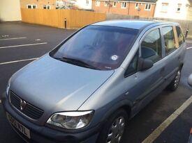 Vauxhall Zafira 1.6 club petrol silver 7 seats no keys