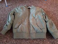 Boys Khaki green bomber jacket Age 4-5