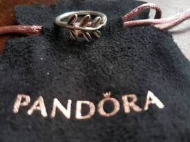 Pandora gold and silver ring size 54