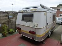 Eriba Puck l 1999.Good condition.2 berth.2 way fridge,stainless sink.spare wheel.6 13 amp. sockets.
