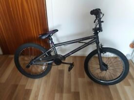 Voodoo bmx bicycle with stunt pegs