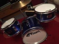 Tiger 3 Piece Junior Drum Kit