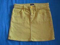 Gap Bright Yellow Denium Style Skirt - (Aged 8-9)