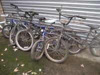 JOB LOT OF KIDS BIKES CHILDS BIKE CHILDRENS BIKES CHILD'S BICYCLE OLD BIKES SPARES OR REPAIR