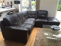 Leather corner sofa freebie