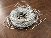 Large Coil of CAT5 White Ethernet cable . Approx 80m in length