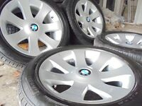 "MINT 18"" genuine bmw Alloys Wheels X5 7 6 3 X3 e65 Series Vw T5 range rover NEW tyres"