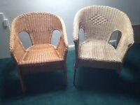 Two Wicker Bedside Chairs