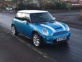 MINI COOPER S 2003 FULL SERVICE HISTORY TIMING CHAIN KIT DONE XENONS LIGHTS ALL STANDARD P/X WELCOME