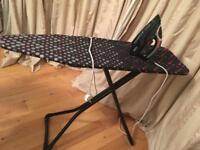 £50 Ironing board and Iron (Russell Hobbs) like new