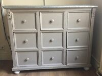 ***BEST BUY*** Antique Chest of drawers - 9 x drawers - brushed metal top