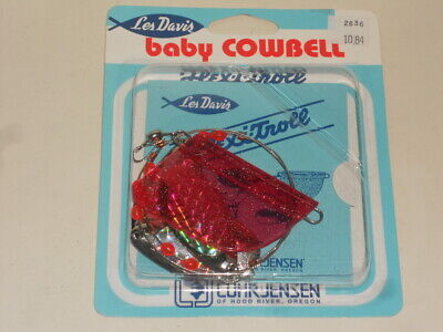 Chartreuse Crystal Pink Crystal Clear//Red Head 3 Les Davis Herring Aid Lures