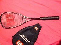 wilson titanium squash racket with case