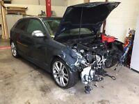 2009 Audi S3 3 door breaking.