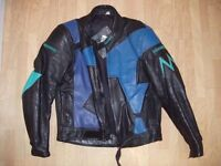 Mens motorbike leather jacket with crash protection by Lookwell Leathers