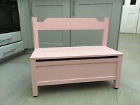 Children's Pink Small Storage Bench