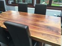 Solid Sheesham Wood Dining Table.