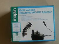 New Maplin Multi-voltage regulated AC/DC adaptor