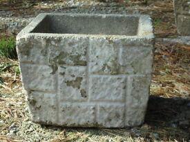 Cast Stone Brick Effect Garden Planter Garden Pot 29cm Tall (1128)