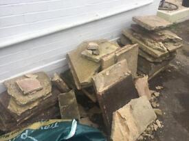 FREE broken paving slabs / hardcore / rubble