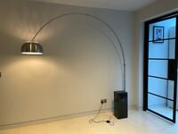 Arc Floor Lamp with Black Marble Base